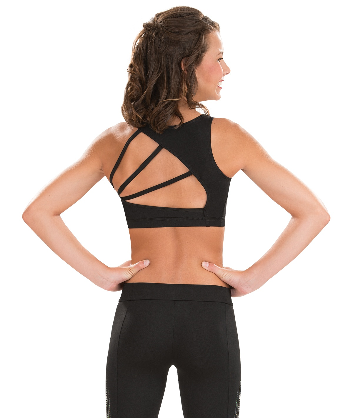 GK All Star Modern Triangle Back Cheer Crop Top