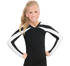 GK All Star Color Blocking Contour Cheer Uniform Top