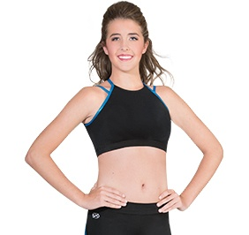 GK All Star Laser Cut Back Crop Top