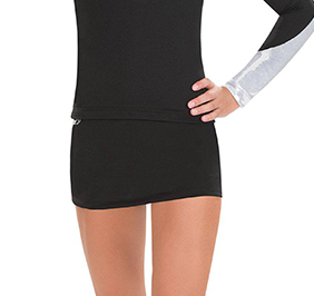 GK All Star Low Rise Black DryTech Cheer Skort