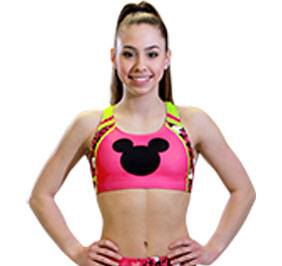 GK All Star Mickey Print Cheer Crop Top