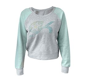 GK All Star Mint Cropped Crew