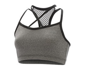 GK All Star Front Criss Cross Mesh Y Back Crop Top