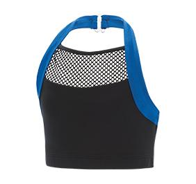 GK All Star Halter Mesh Inset Cheer Crop Top