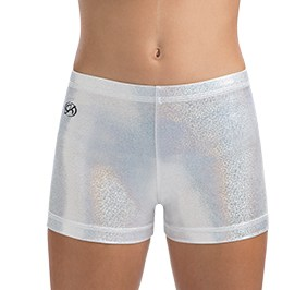 GK All Star White Sparkle Cheer Shorts