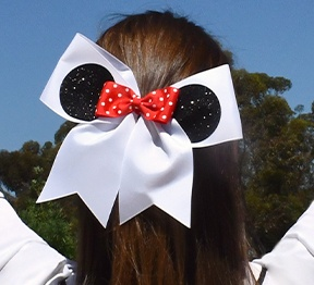 Chasse Mouse Ears Hair Bow