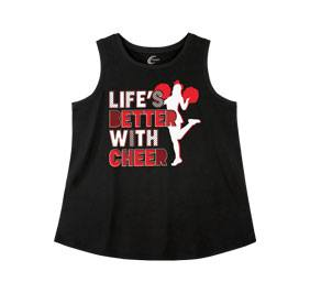 Chasse Life's Better with Cheer Tank