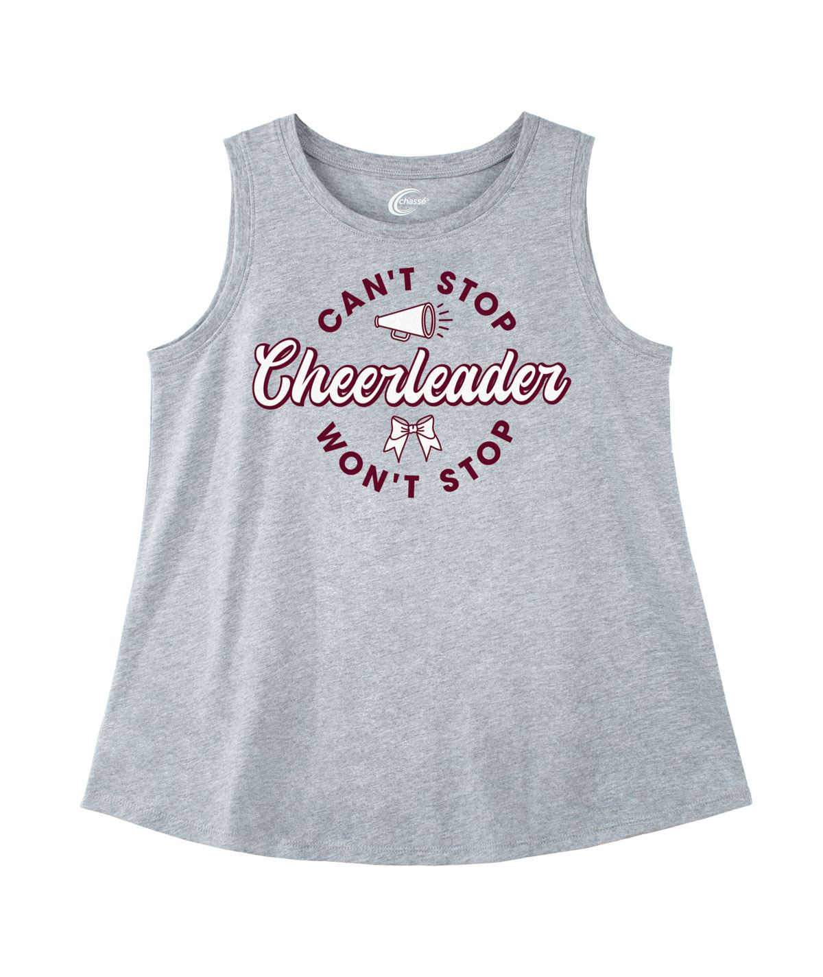 Chasse Can't Stop Won't Stop Cheerleader Tank
