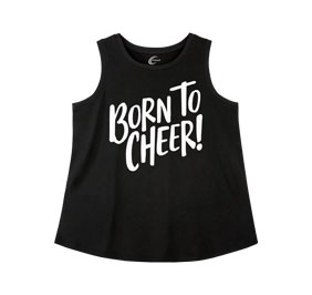 Chasse Born to Cheer Tank