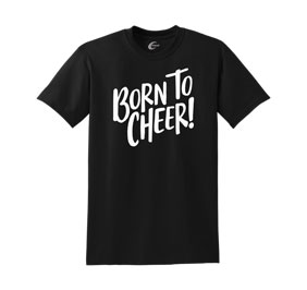 Chasse Born to Cheer Tee