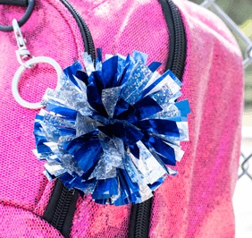 Chasse Mini Holographic Pom Keychain