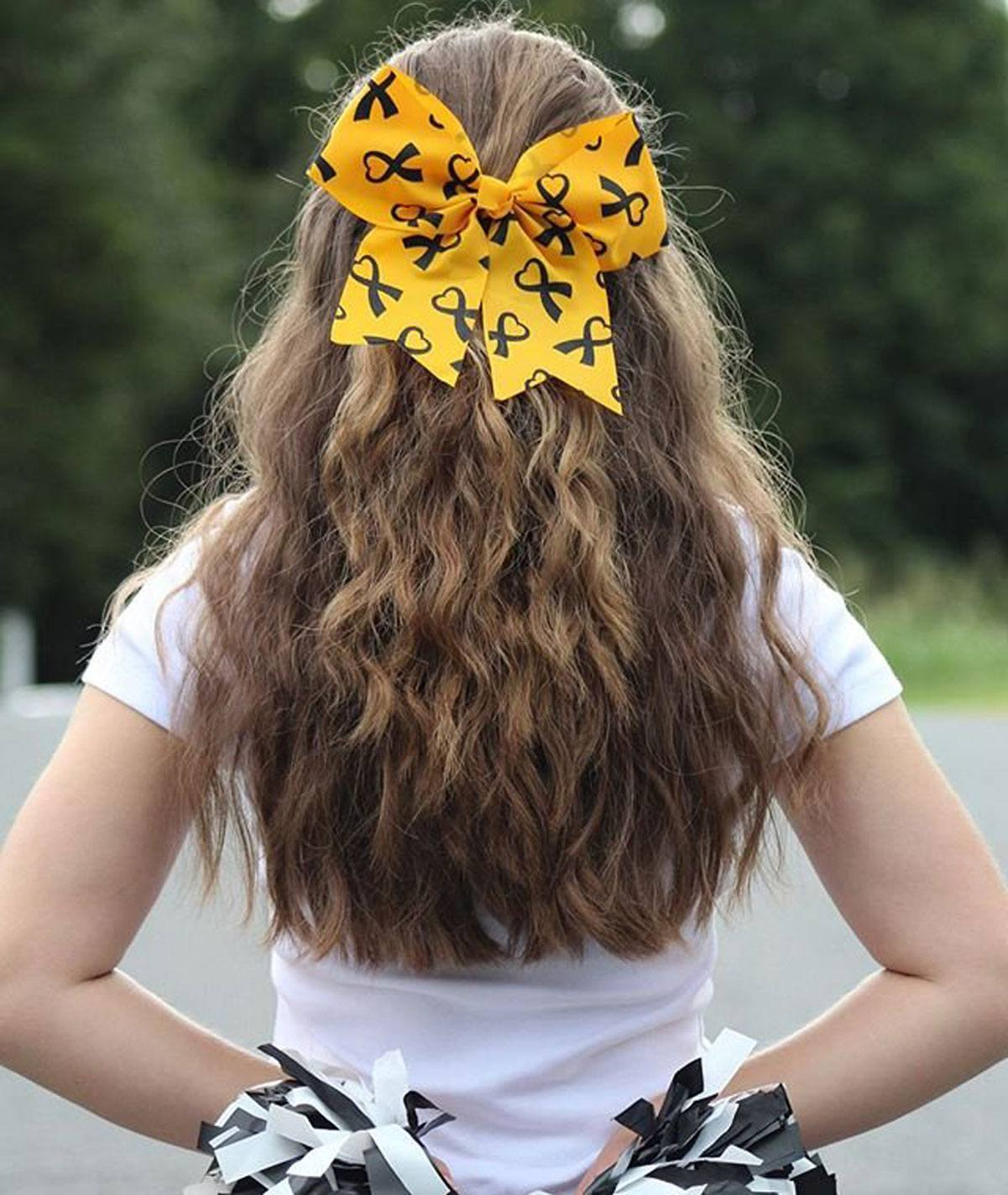 Chasse Cheer Awareness Ribbon Hair Bow
