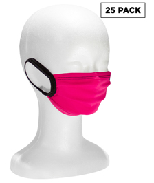 In-stock Fabric Pleated Face Mask with Earloops - 25 Pack