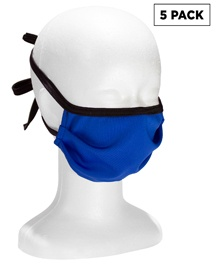 In-stock Fabric Pleated Face Mask with Ties - 5 Pack