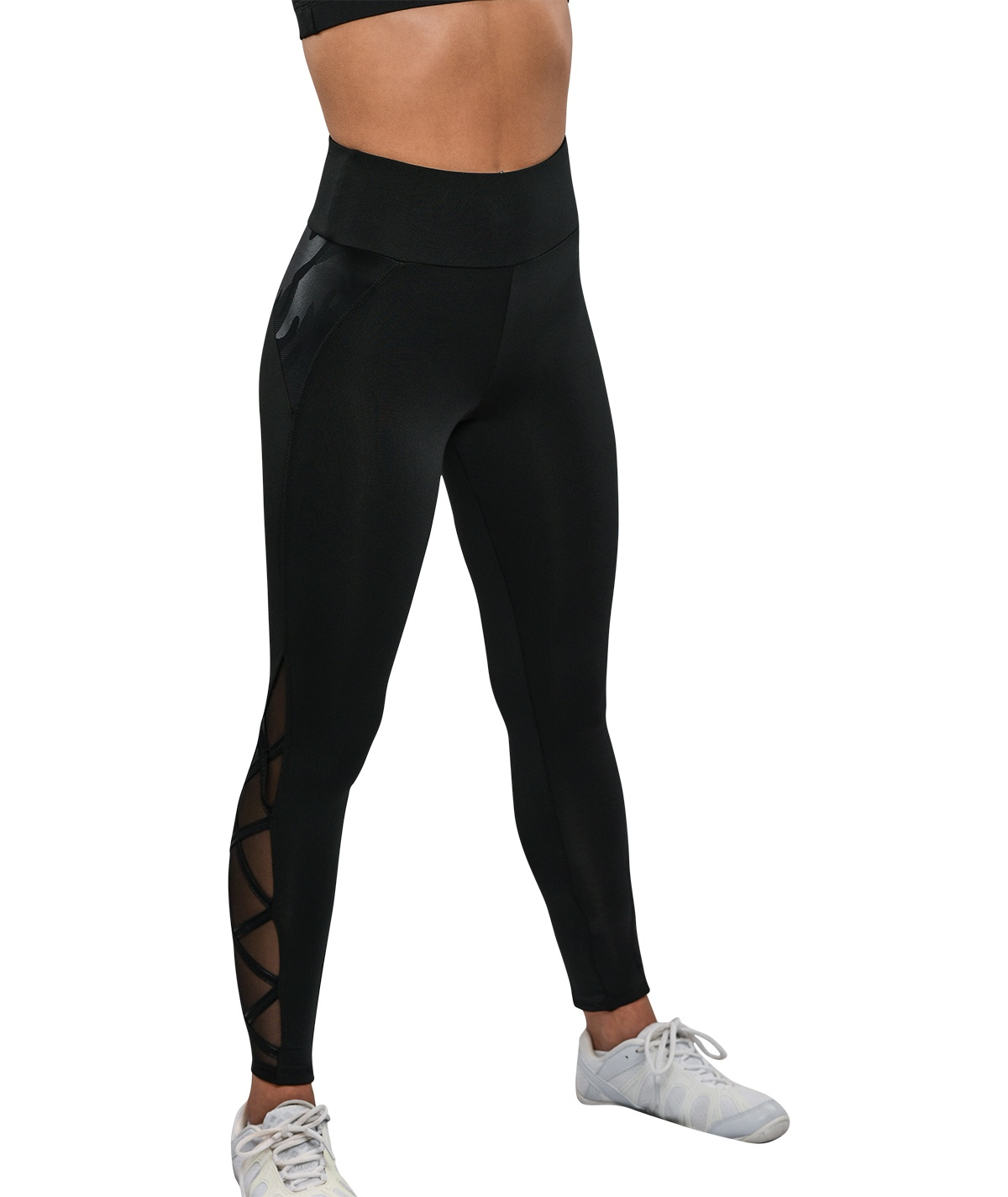 GK All Star Camou And Mesh High Waisted Criss Cross Capris