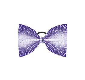 Large Sublimated Belle Tailless Custom Hair Bow With Rhinestones