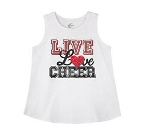 Chasse Live and Love Cheer Tank
