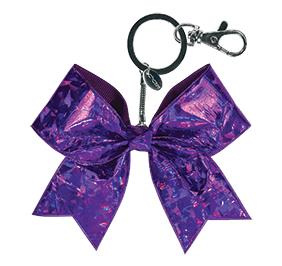 Chasse Mini Crystal Bow Keychain