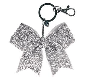 Chasse Mini Tinsel Bow Keychain
