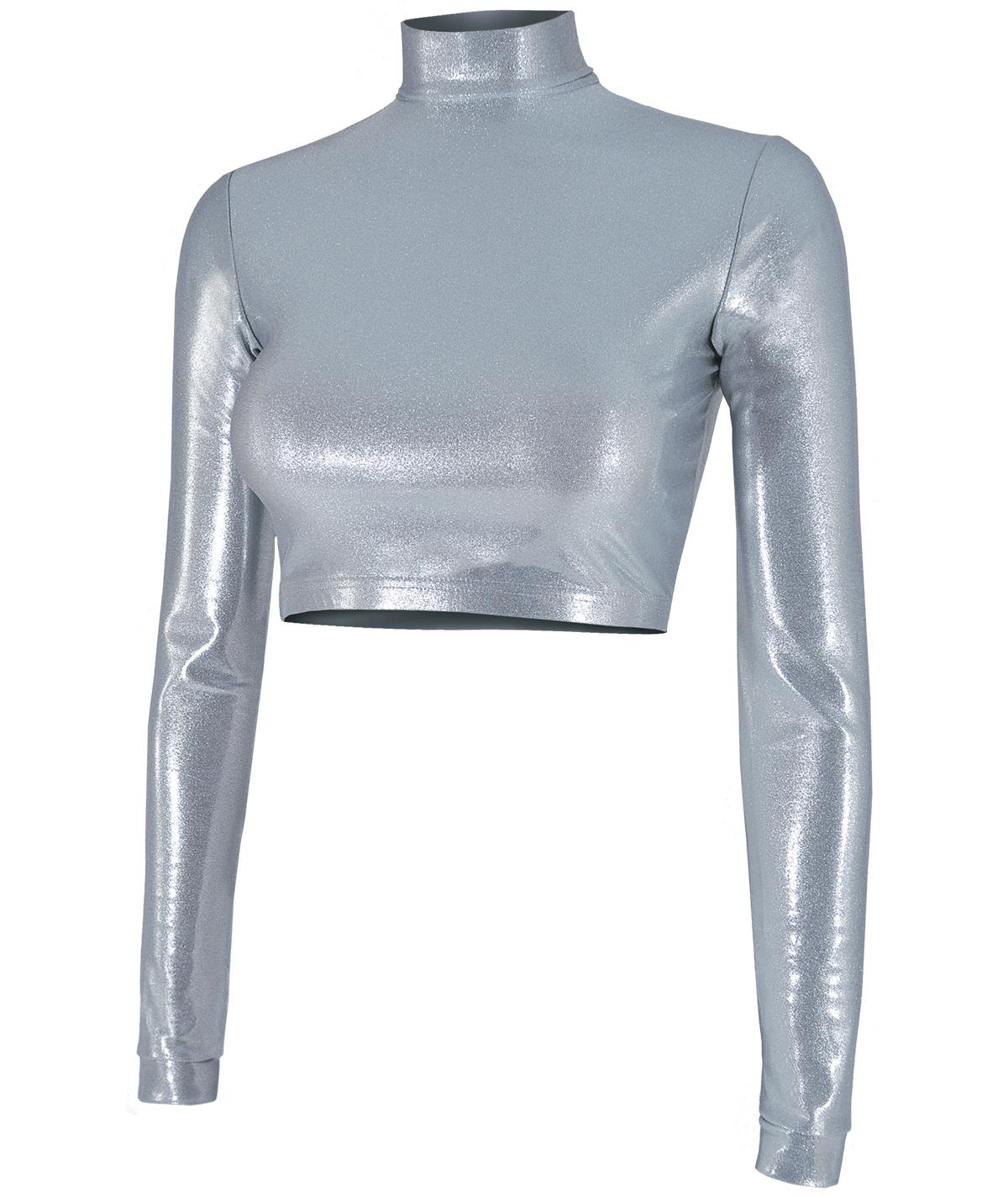 METALLIC MIDRIFF CROPPED BODYSUITS