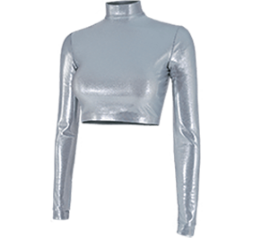Chasse Metallic Cropped Bodysuit