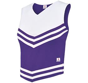 Double Knit V Style Cheerleading Uniform Top