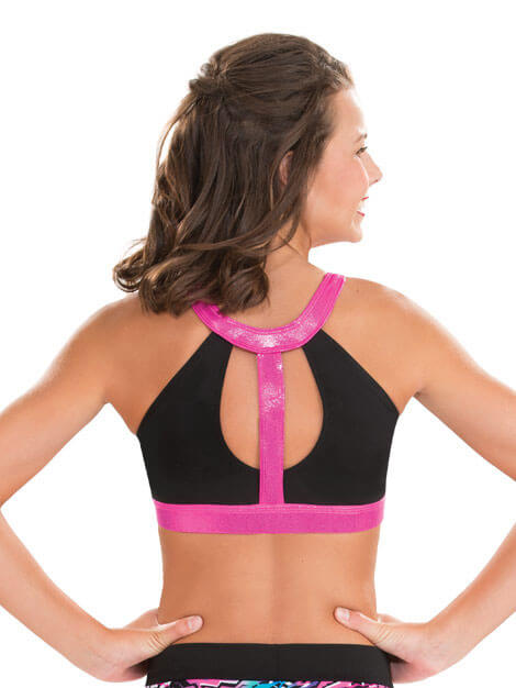 GK Cut Out Y Back Cheer Crop Top