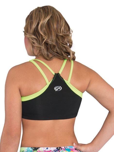 GK Elite Strappy V Back Cheer Crop Top