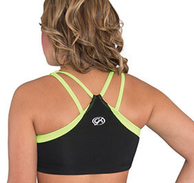 GK STRPY V BACK CROP TOP