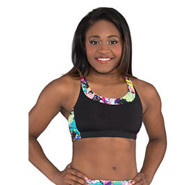 GK Elite Open X Back Crop Top