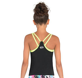 GK Elite Strappy V Back Long Cheer Top