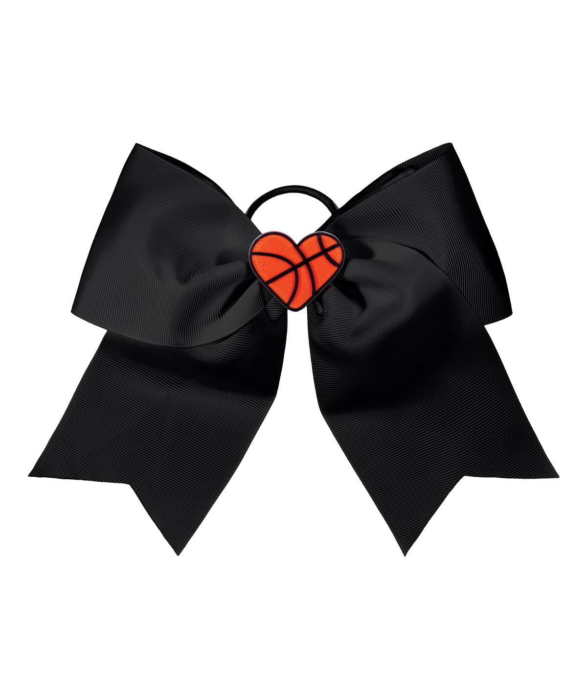 Chasse I Heart Basketball Hair Bow