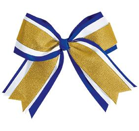 Chasse Jumbo 3 Color Metallic Hair Bow