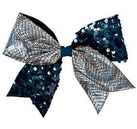 Chasse Crackle And Sequin Performance Hair Bow