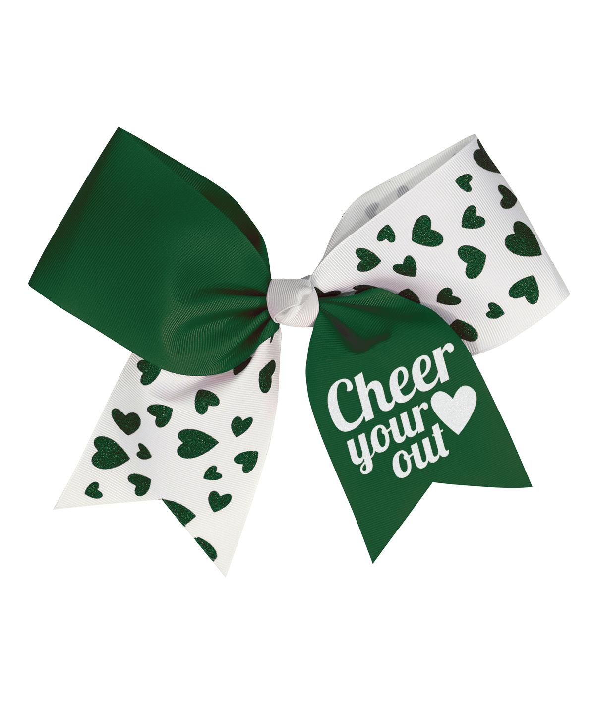 Chassé Glitter Hearts Performance Hair Bow
