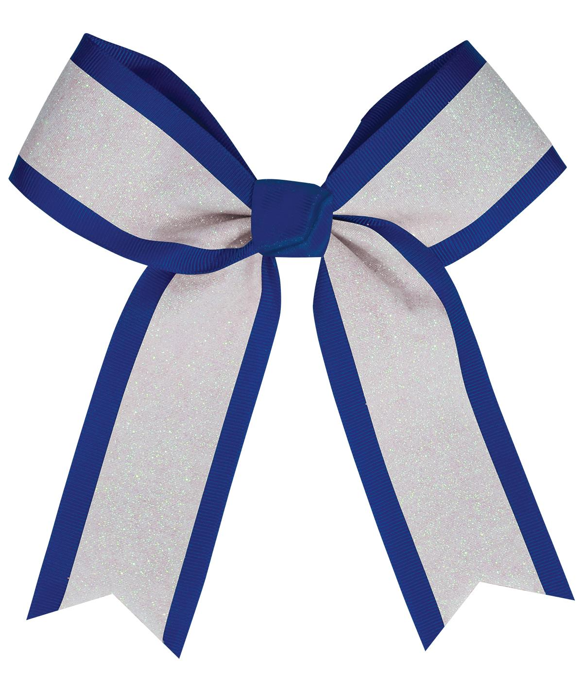 Chassé White Glitter Hair Bow