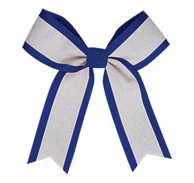 Chasse White Glitter Hair Bow