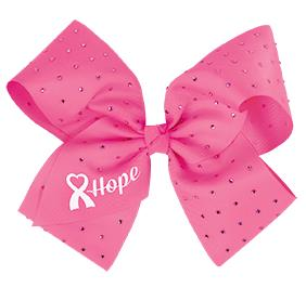 Cheer For The Cause Hope Cheer Bow