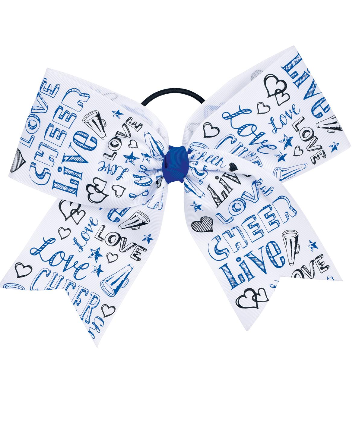 Chasse Live Love Cheer Performance Hair Bow