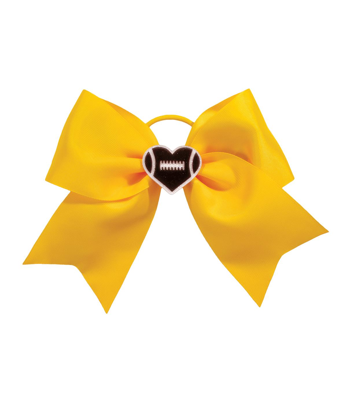 Chasse I Heart Football Hair Bow