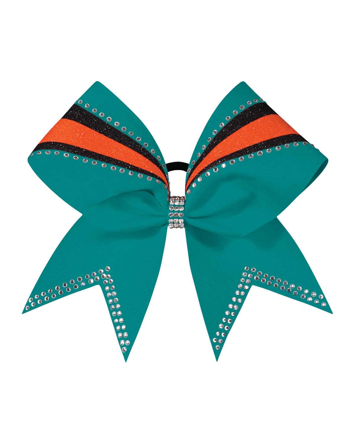 Sublimated Gameday Custom Hair Bow with Rhinestones