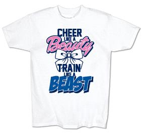 Cheer Like A Beauty Jersey Tee