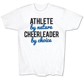 Cheerleader By Choice Jersey Tee