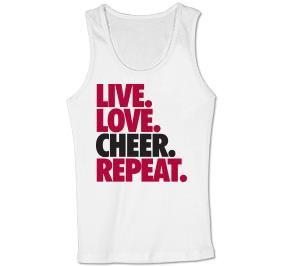 Live Love Cheer Repeat Tank