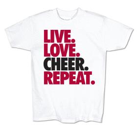 Live Love Cheer Repeat Tee