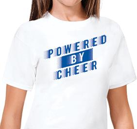 Powered By Cheer Tee