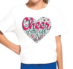 CHEER WITH ALL YOUR HEART TEE