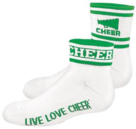 Chasse Flip Sock with Megaphone and Stripe