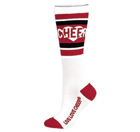 Chasse Knee High Love To Cheer Sock