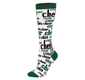 Chasse Knee High Nothing But Cheer Sock